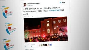 Gronkiewicz-Waltz po Parapetówce w Muzeum Pragi: Praga jest cool