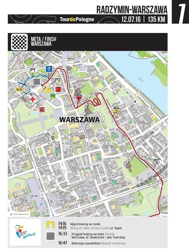 Tour de Pologne w Warszawie UM Warszawa