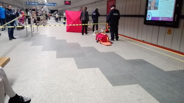 Wypadek w metrze Kontakt 24