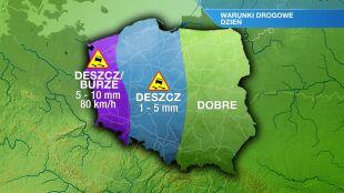 Polska podzielona: na wschodzie słońce, na zachodzie deszcz i burze