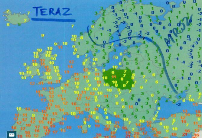 Temperatura w Europie w środę rano