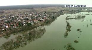 Wysoki stan rzek na Mazowszu (TVN24)